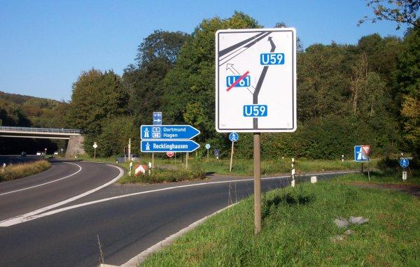 Bedarfsumleitung Autobahn